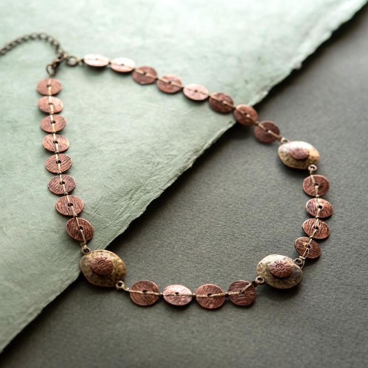 Bronze Beauty Brass Necklace