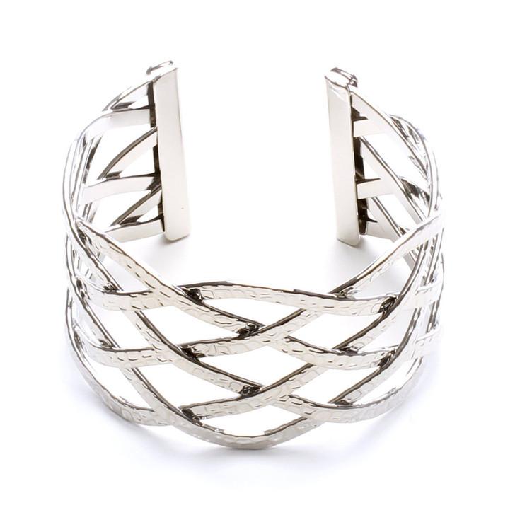 Twisted Web  Silver Cuff Bracelet