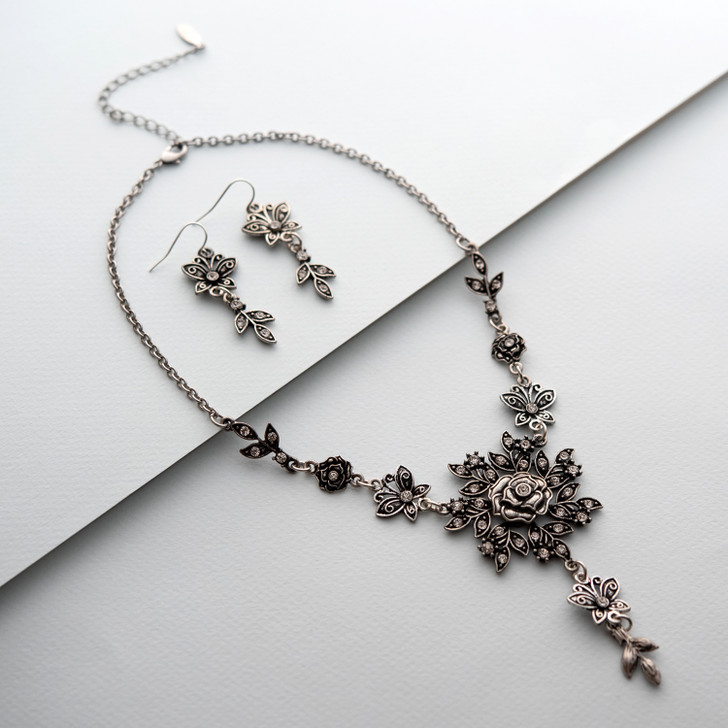 Imperial Elegance Necklace and Earring Set
