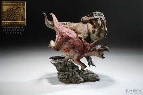Tyrannosaurus Rex vs. Triceratops Diorama by Sideshow