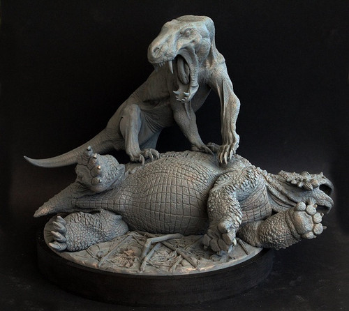 Inostrancevia vs Scutosaurus Resin Kit by Klatt