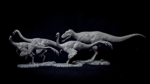 Alioramus vs Gallimimus Resin Kit by Passion Charger