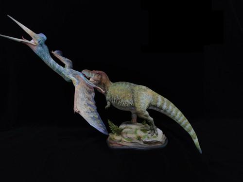 Tyrannosaurus vs Quetzalcoatlus Resin Kit by Musee