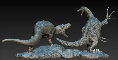 Tarbosaurus vs Therizinosaurus Resin Kit by Passion Charger