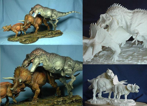 Tyrannosaurus and Triceratops Resin Kit by Paleocraft