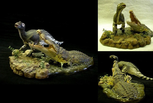 Deinosuchus vs. Kritosaurus Resin Kit by Foulkes