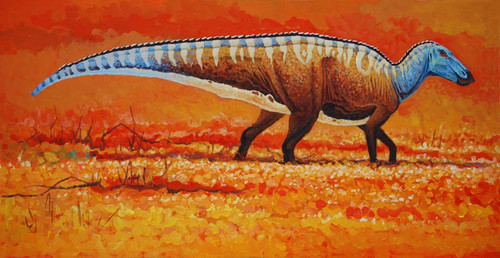 """Field of Gold"" Edmontosaurus by Rodrigues"