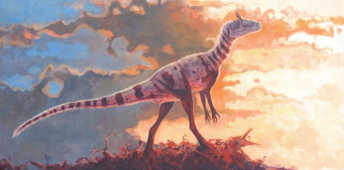 """A Scent on the Wind"" Cryolophosaurus by Rodrigues"