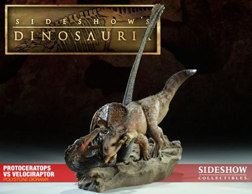 Protoceratops vs. Velociraptor Diorama by Sideshow
