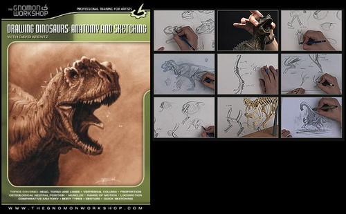 Drawing Dinosaurs: Anatomy and Sketching DVD
