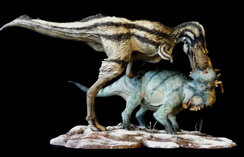 Gorgosaurus vs. Pachyrhinosaurus Finished Model by Dan's Dinosaurs