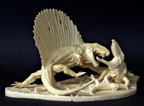 Dimetrodon vs Ophiacodon Resin Kit by Klatt