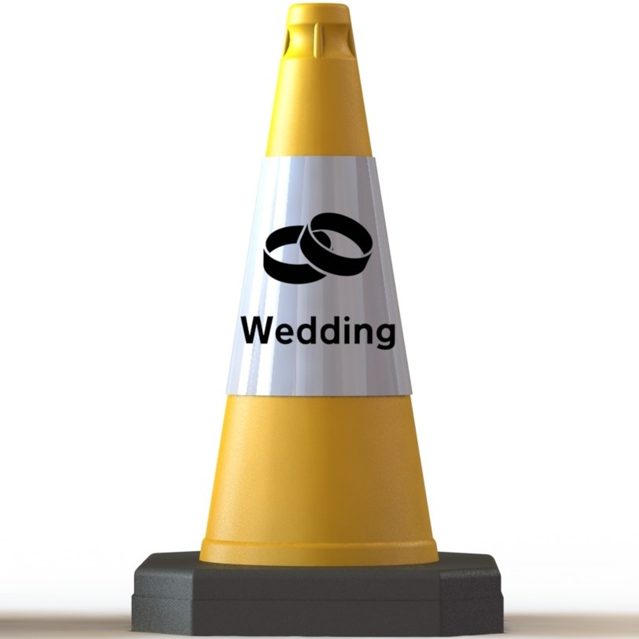 10 x 50cm Wedding traffic cones