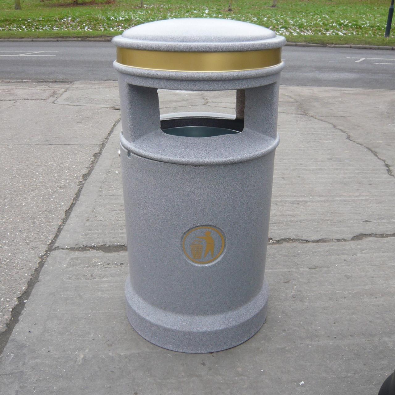 Grey Cesar 120 Litre outdoor heritage waste litter bin