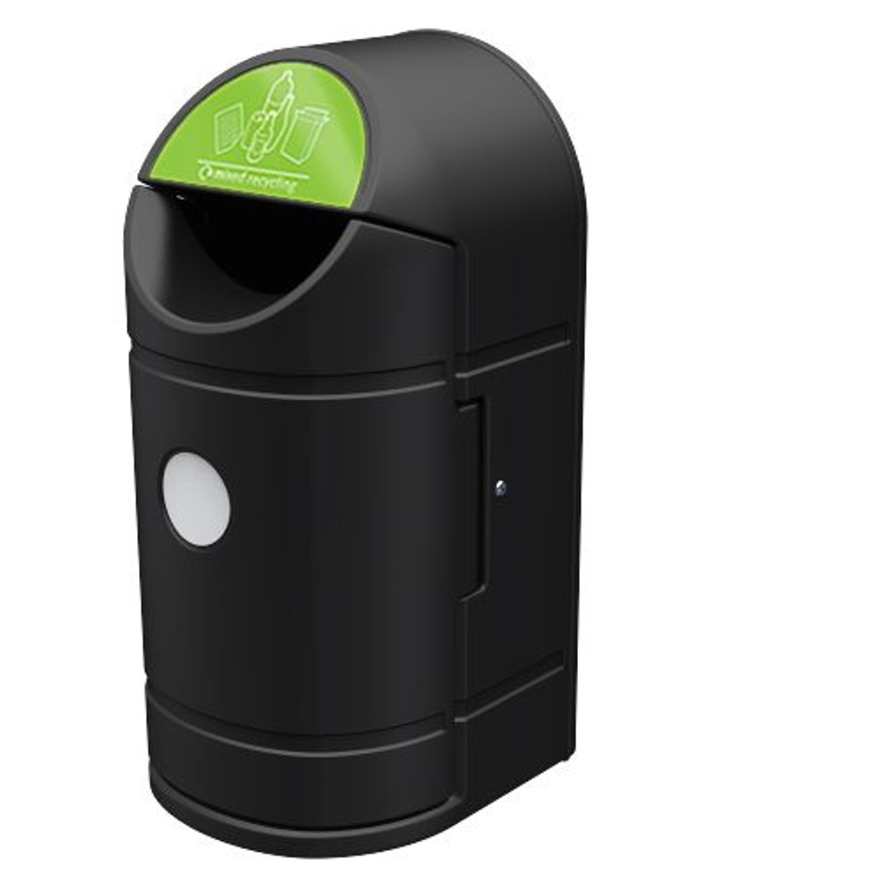 Eximo 90 litre  outdoor waste recycling litter bin