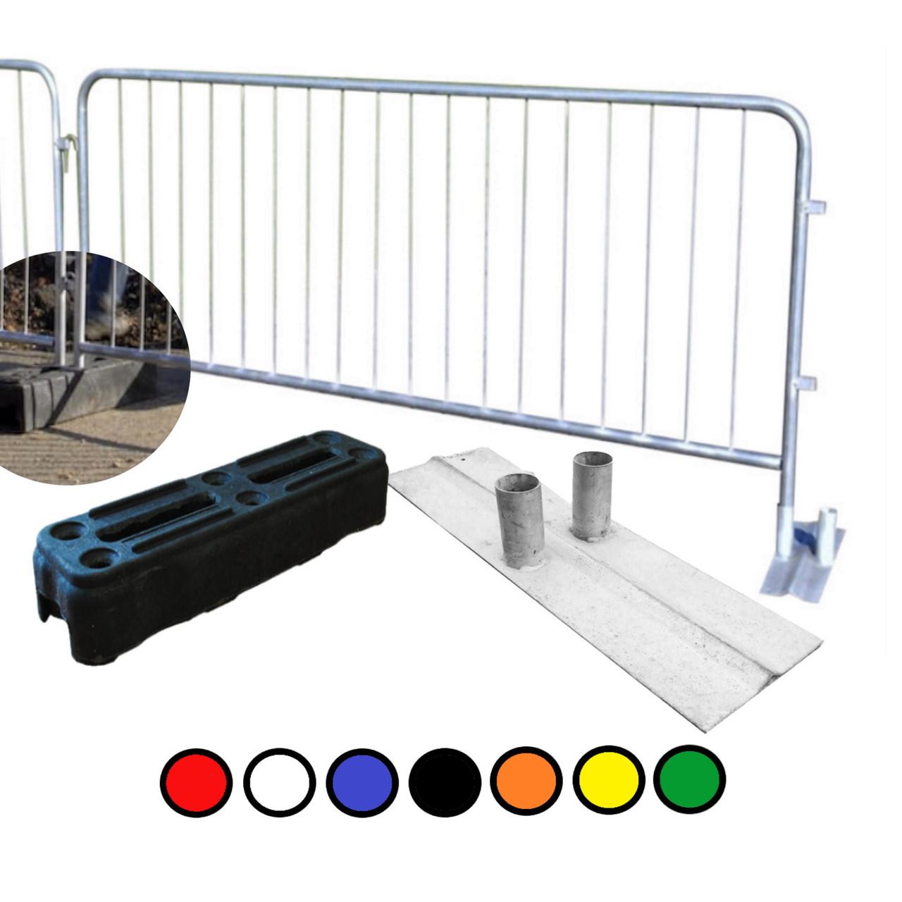 Loose detachable leg metal crowd & site barriers inc rubber blocks