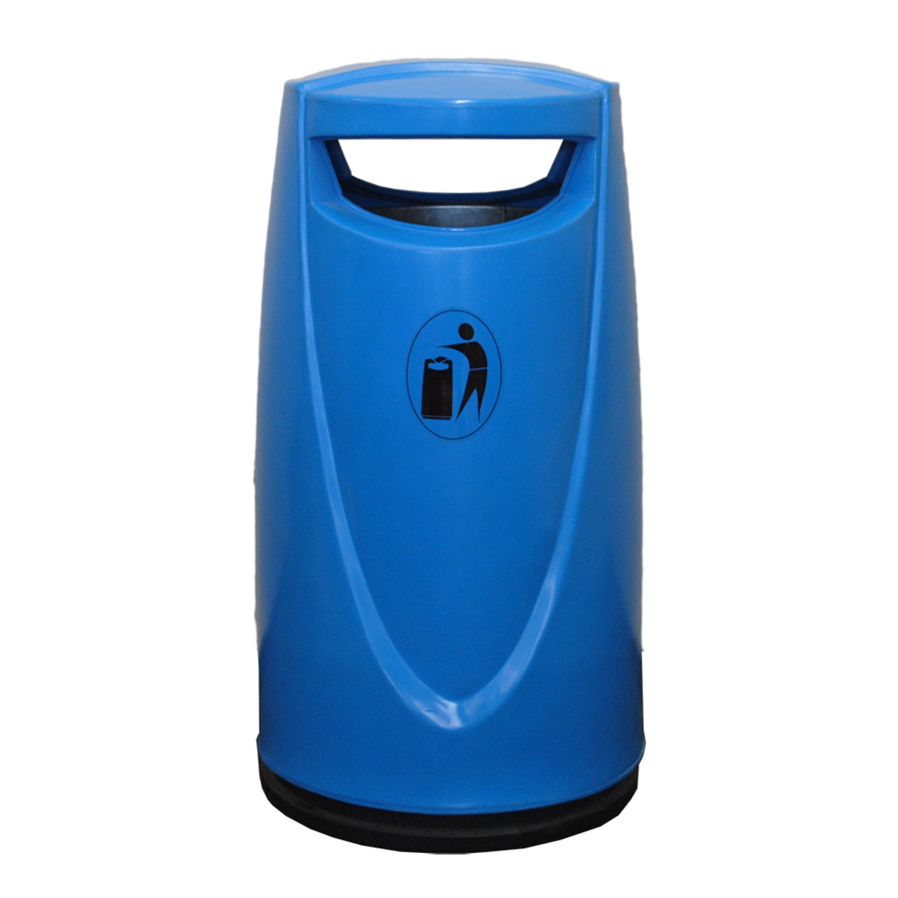Darcy locking outdoor litter bin 90 litre