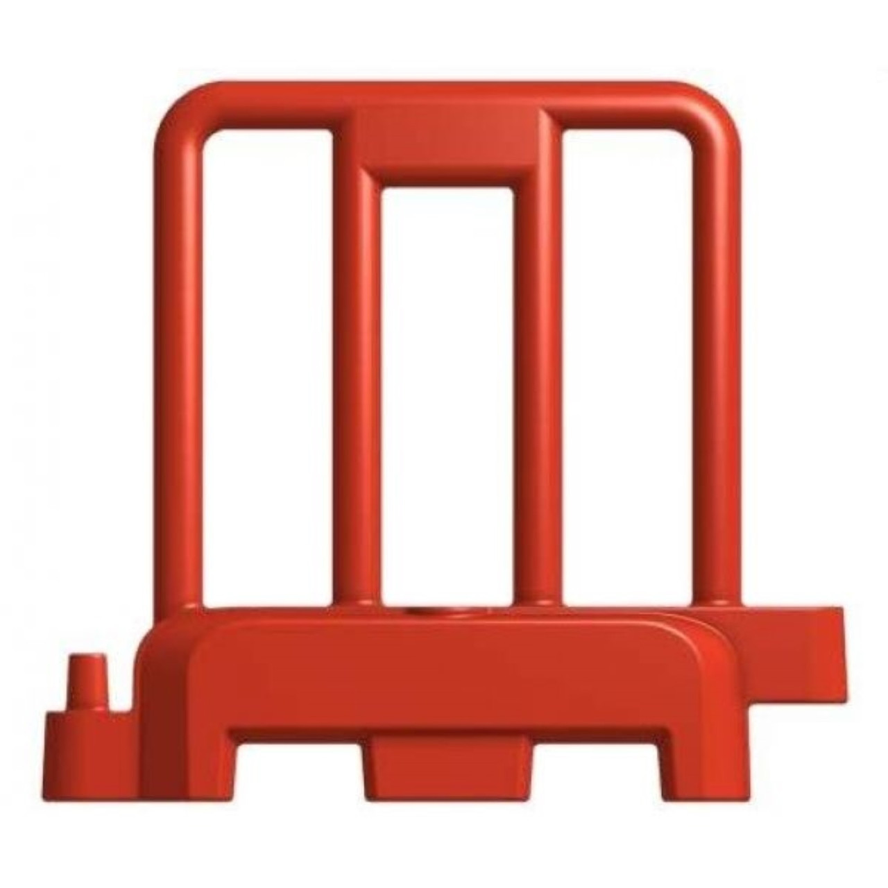 Personnel 1 meter water filled public safety barrier red