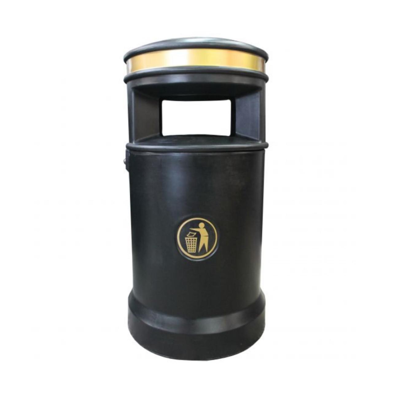 Black Ravenbank 120 Litre school litter bin