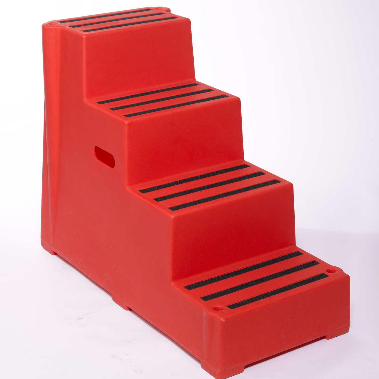 Red 4 tread plastic safety step