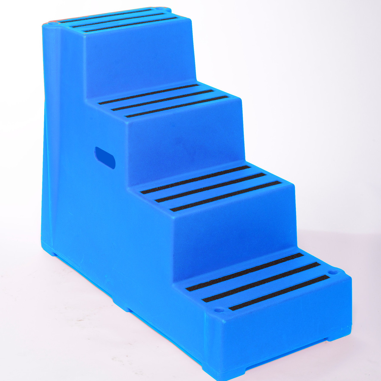 Blue 4 tread plastic safety step
