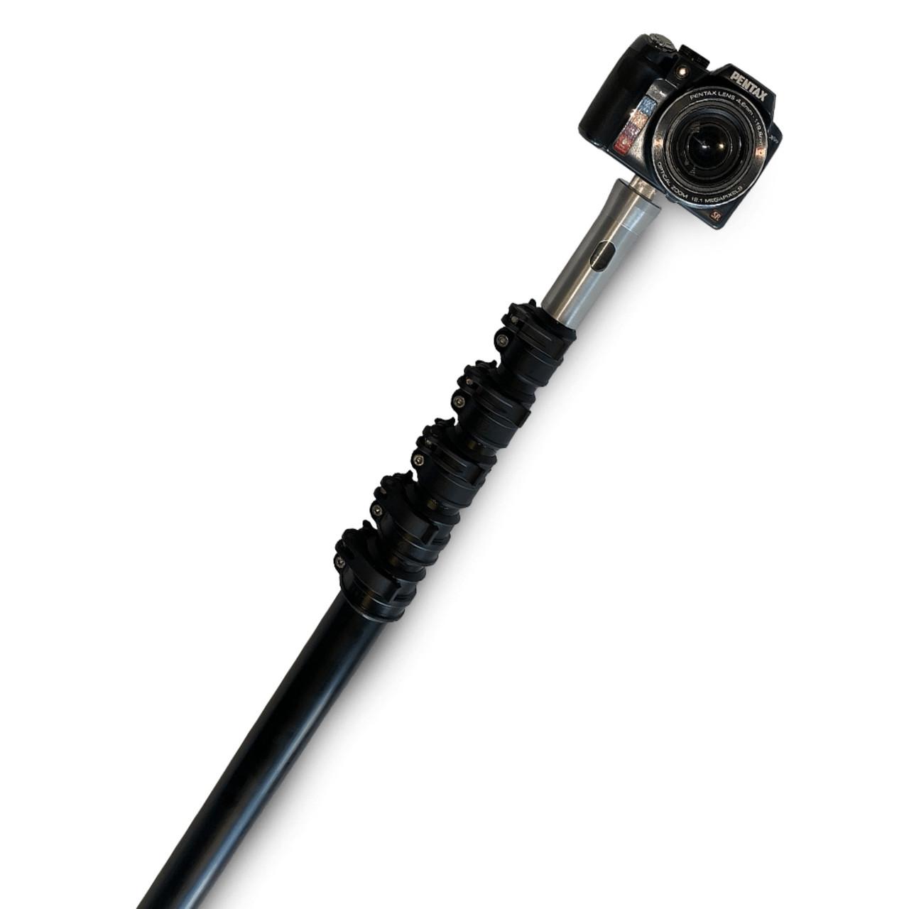 18 ft / 5.5 meters reach aluminium monopod telescopic camera pole