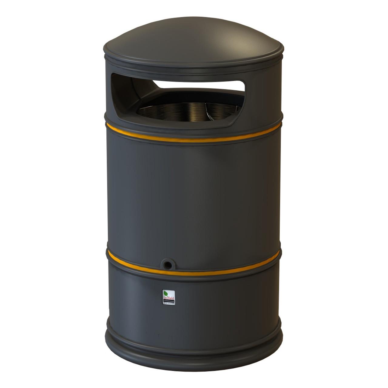 Classic Heritage litter bin 110 litre black