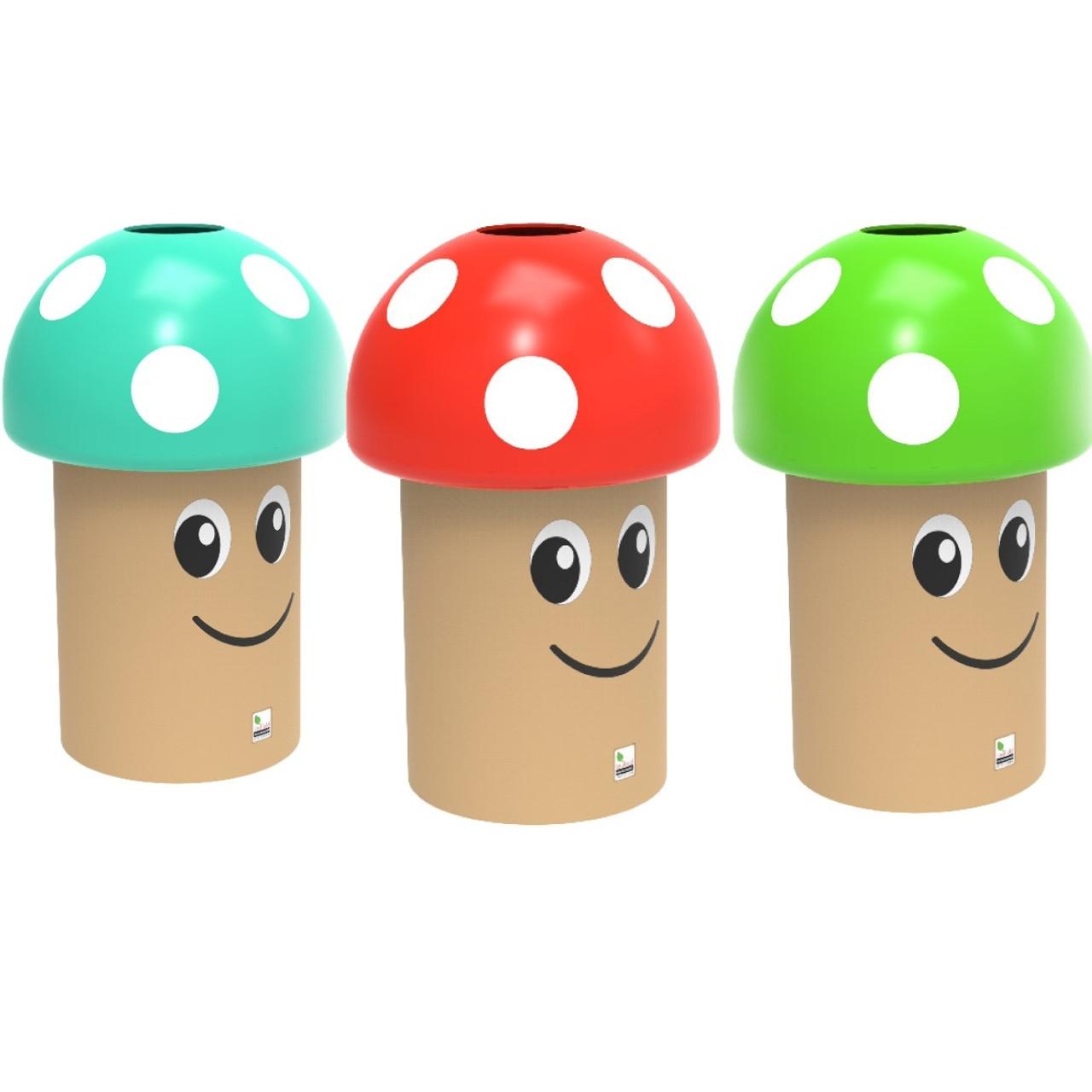 Mushroom litter bin 70 litre
