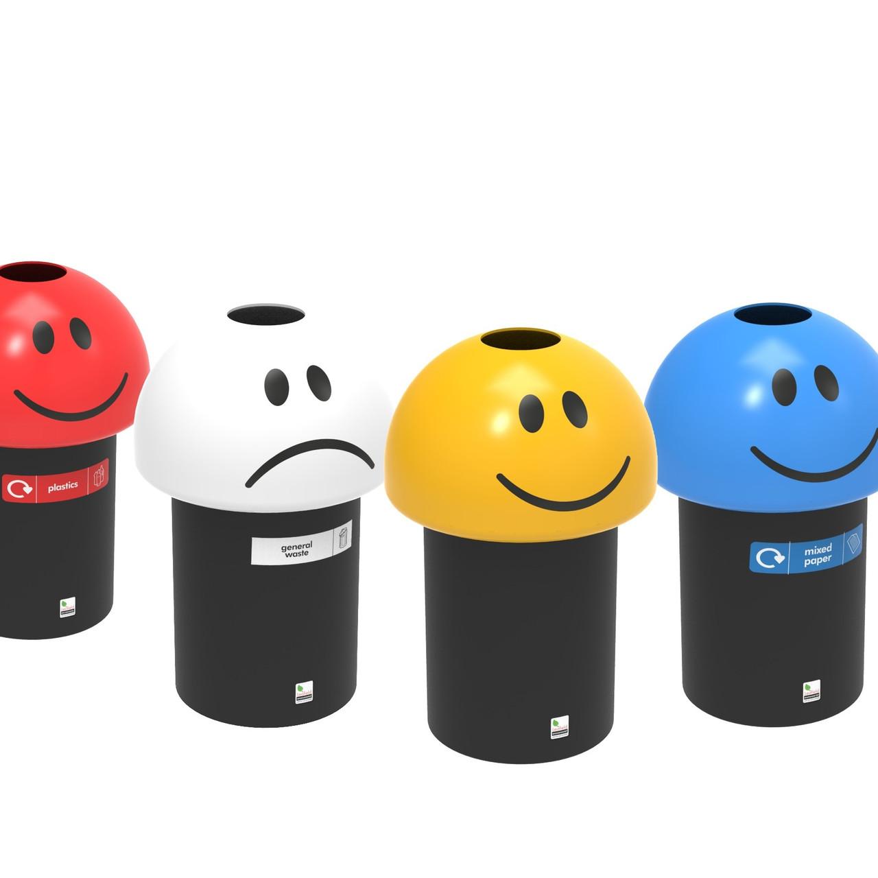 Novelty Emoji Litter Bin 70 Litre