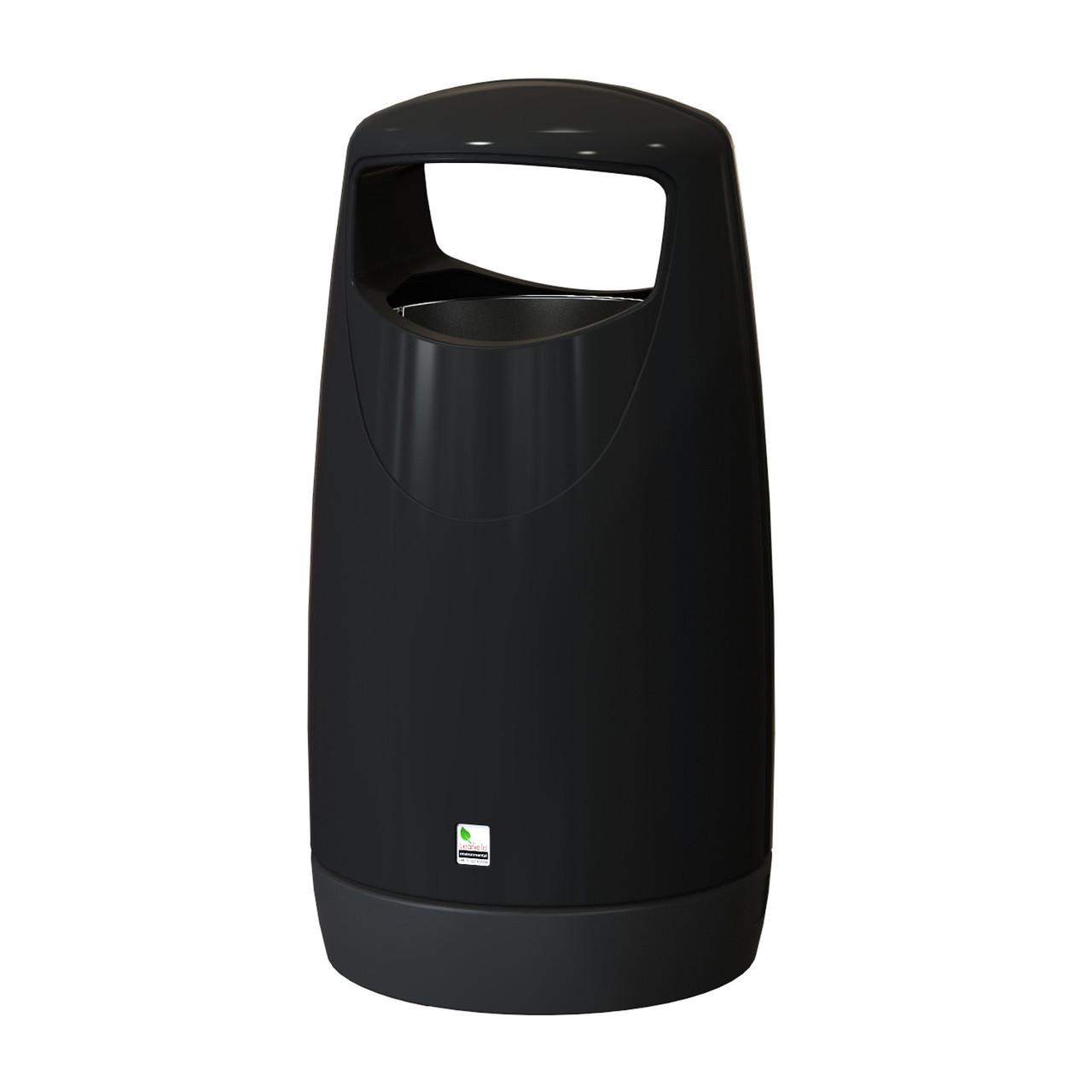 Consort litter bin 100 litre black
