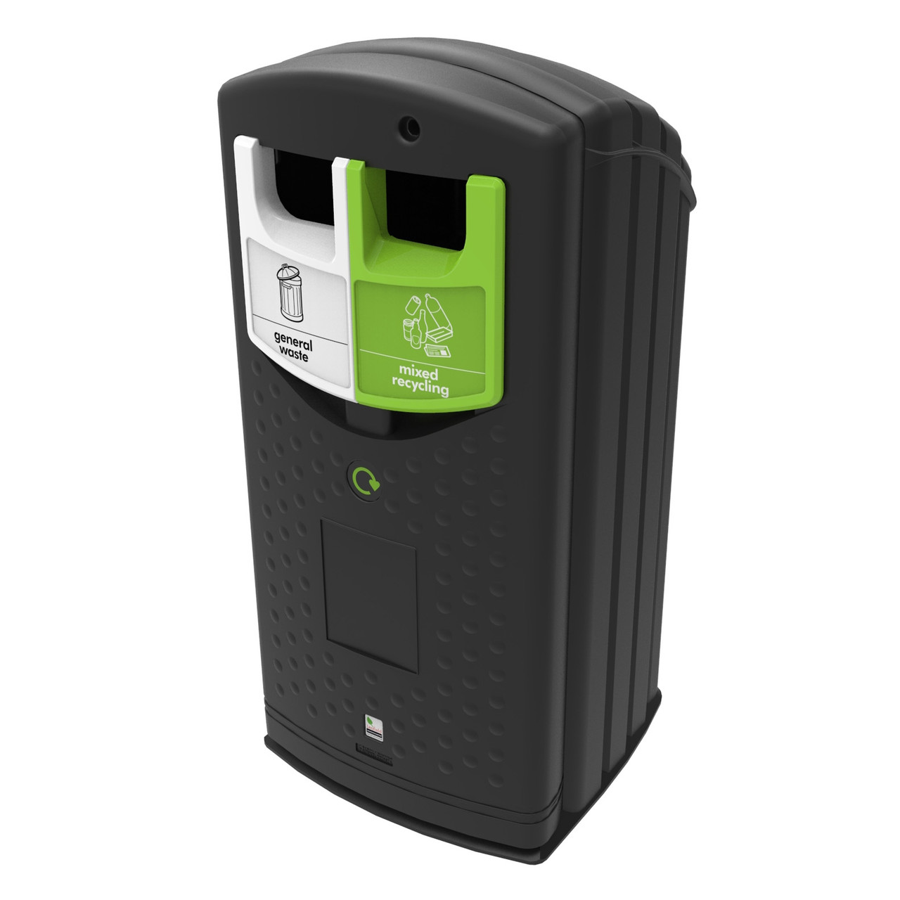 Envirobank split recycling bin 2 x 90L