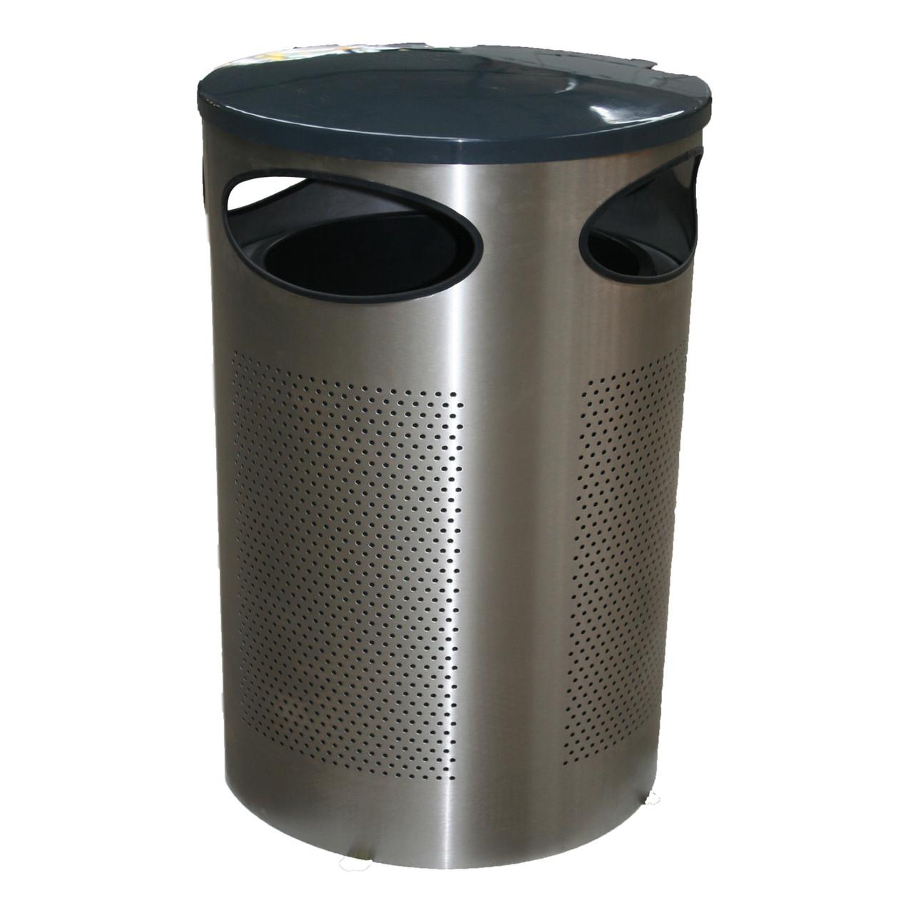 Halo 80 stainless steel metal blast resistant litter bin
