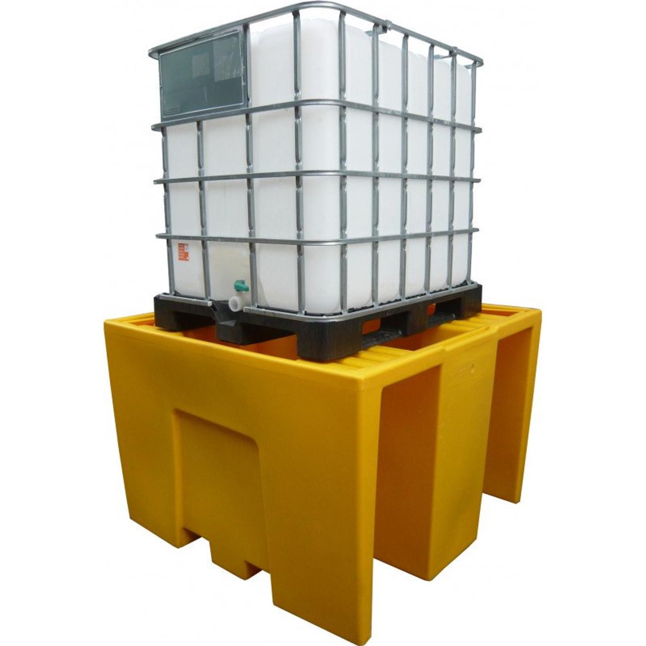 Jumbo IBC storage tank pallet spill containment bund / stand