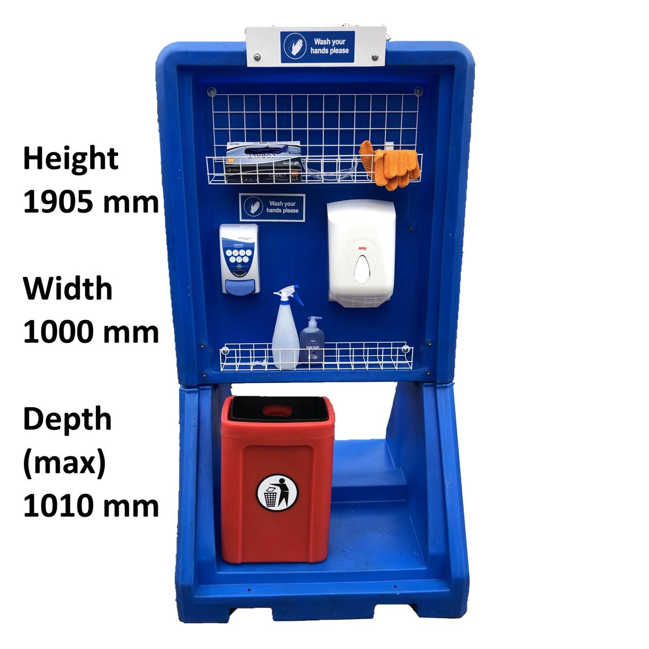 Washpoint freestanding workplace hand wash sanitiser station