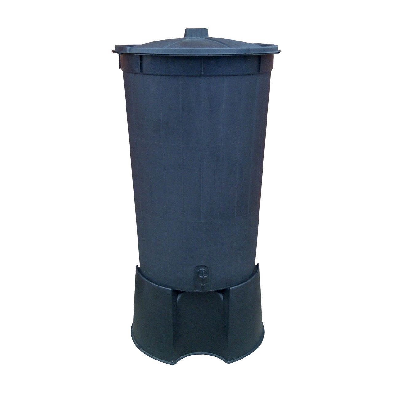 Black 200 Litre heavy duty water butt & stand