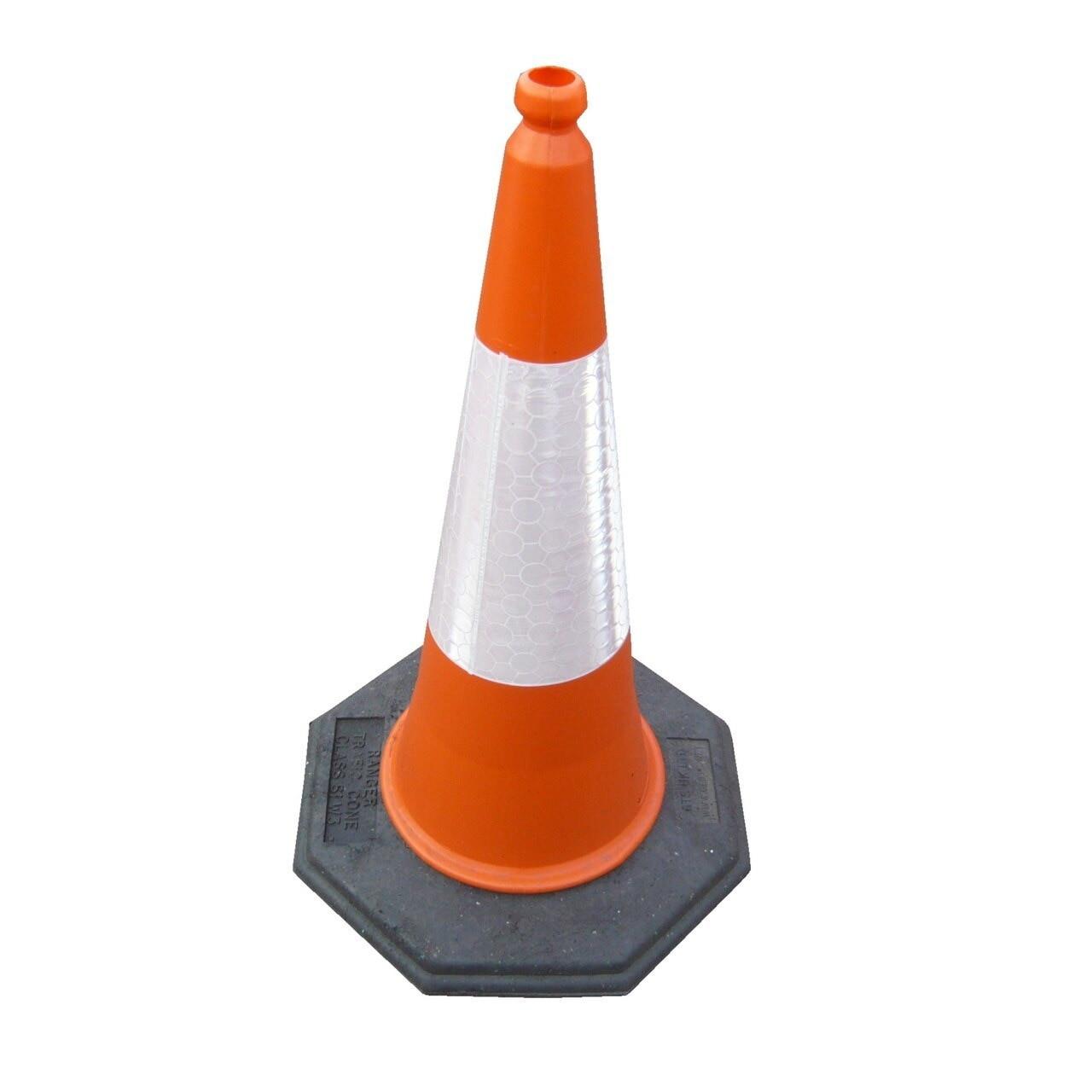 750mm Oaklands Ranger 1 piece road traffic cone