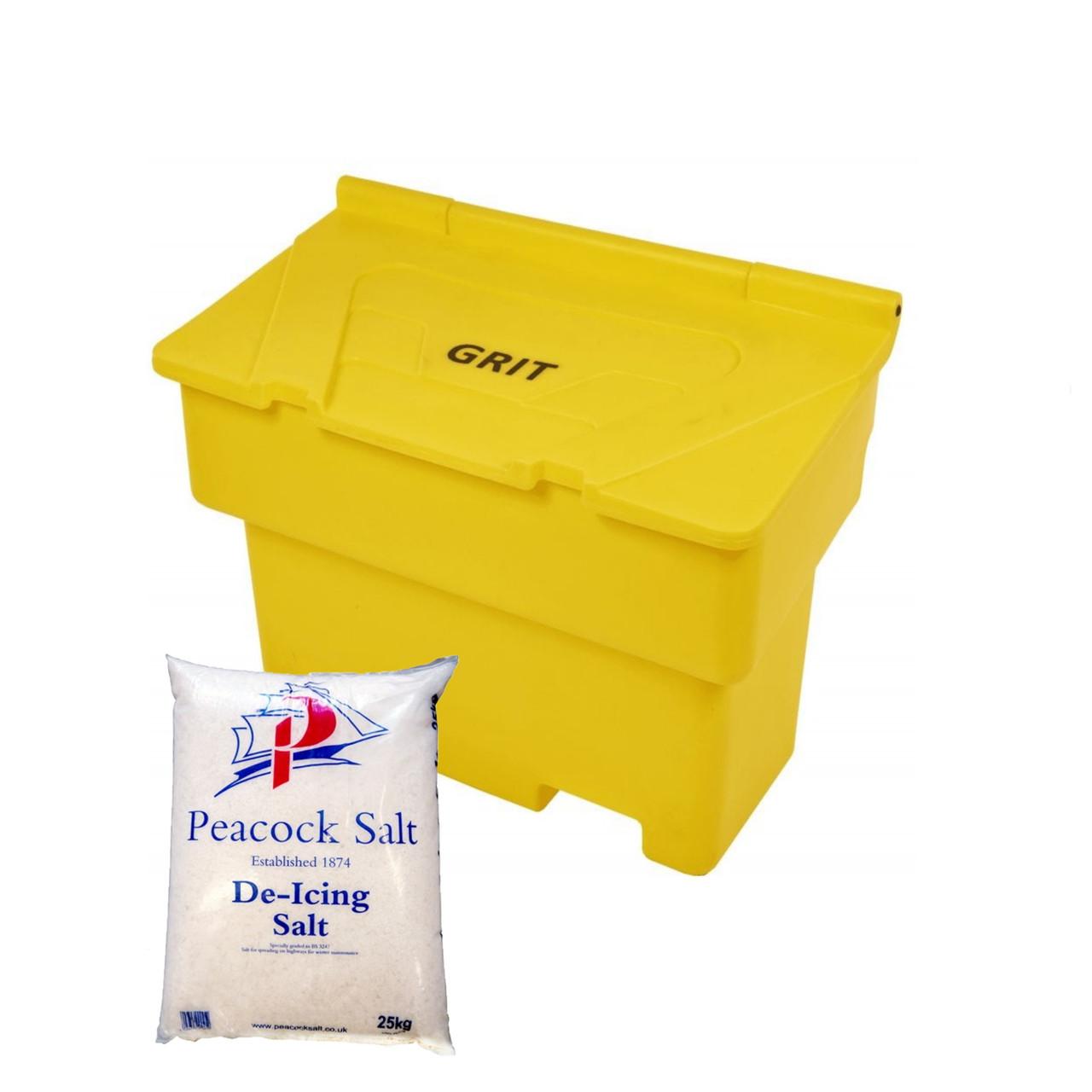 200 Litre grit salt box bin - optional salt