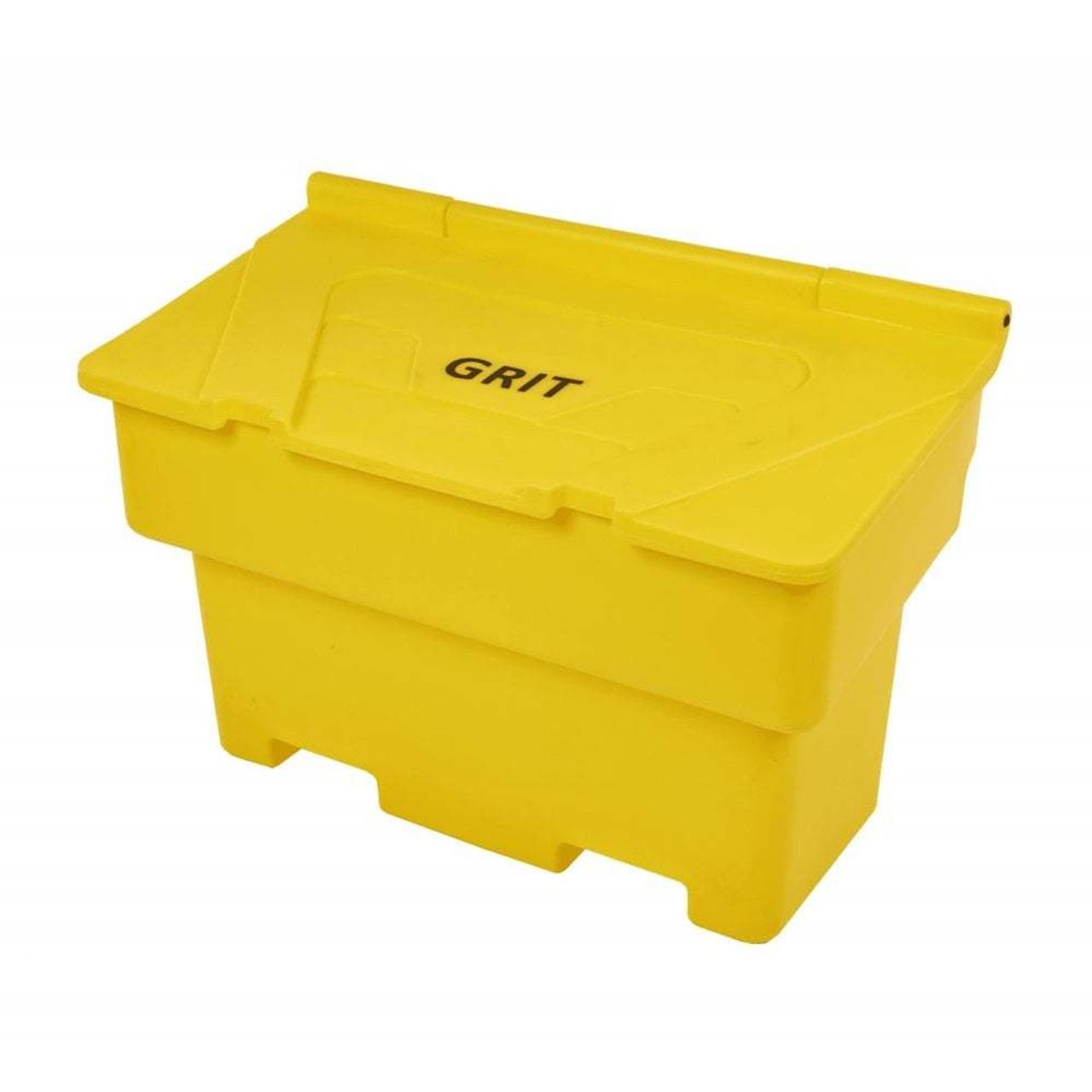 Yellow 200 Litre lockable grit balt bin box