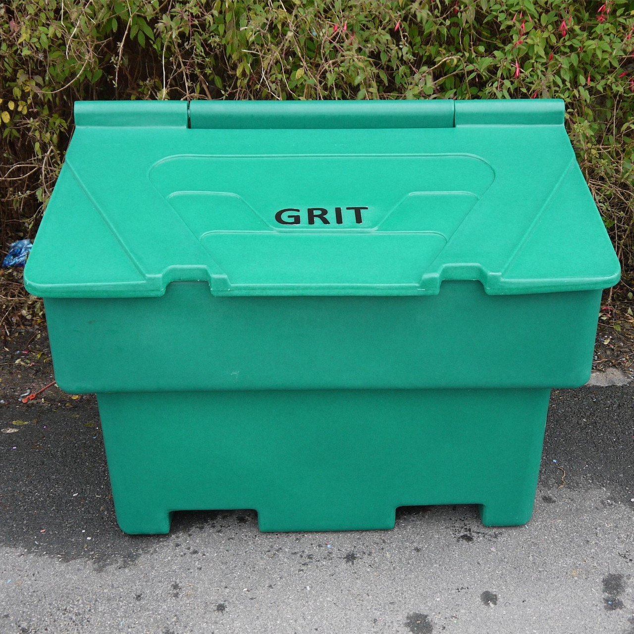 Heritage green 200 Litre lockable grit salt bin box