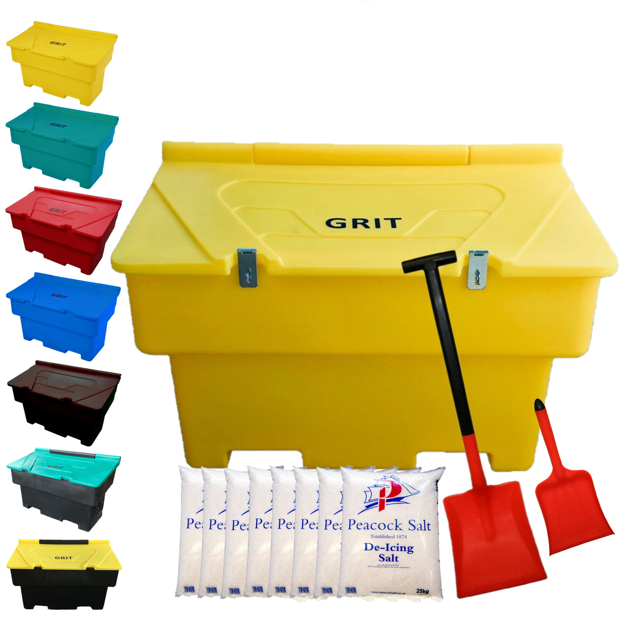 200 Litre Grit Bin With 8 x 25kg Bags Of Salt