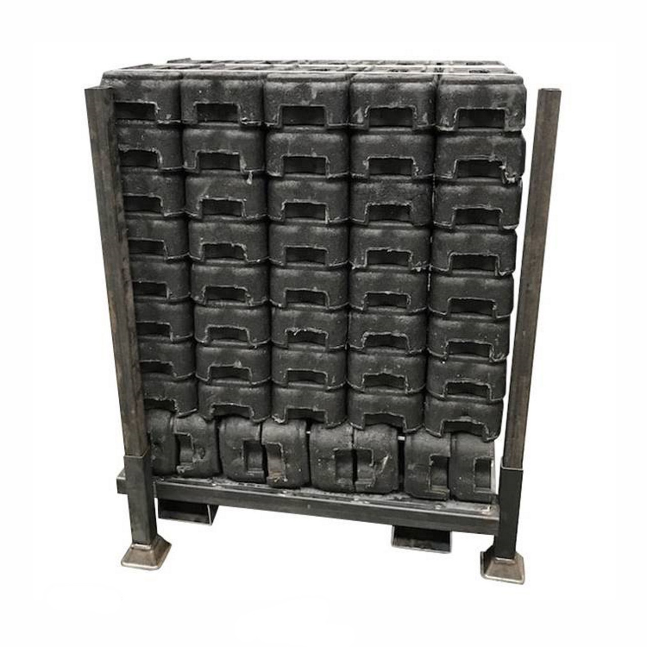 Metal stillage to store up to 48 rubber block fence feet