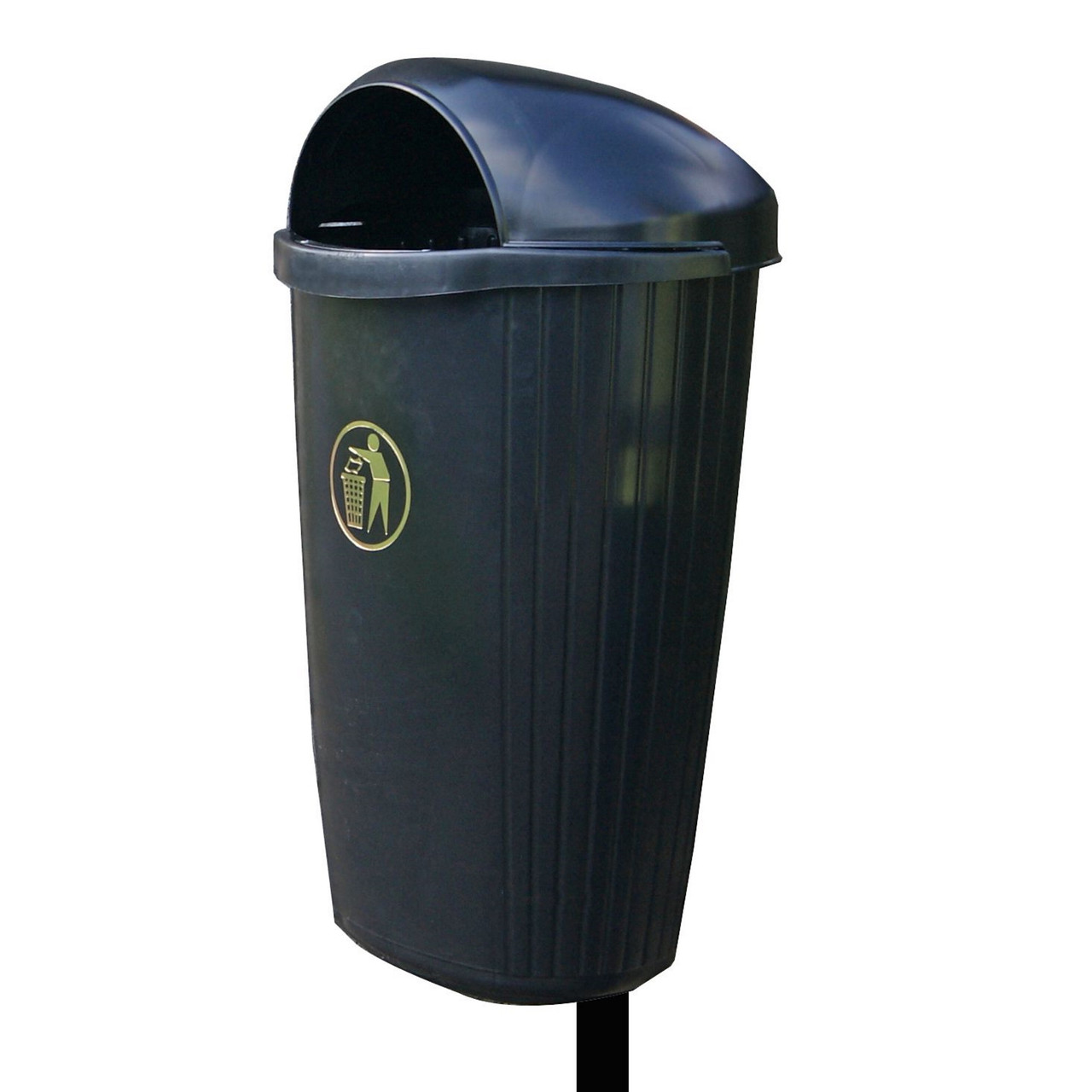 Black Regent 50 Litre post / wall litter bin