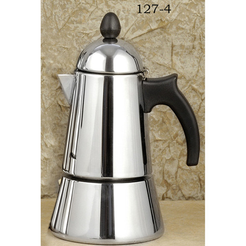 Konica Stainless Steel stove top,espresso maker 4-cup