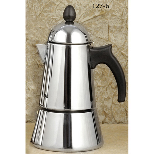 Konica Stainless Steel stove top, espresso maker 6-cup