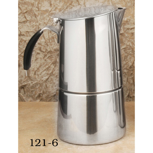 "Espresso Stove Top Stainless, ""OMNIA"" 6 CUP"