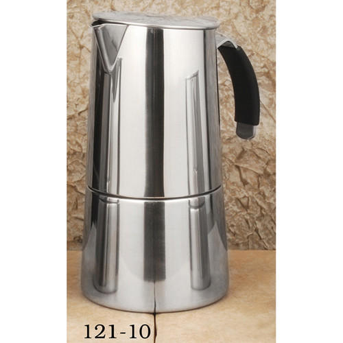 "Espresso Stove Top Stainless, ""OMNIA"" 10 CUP"