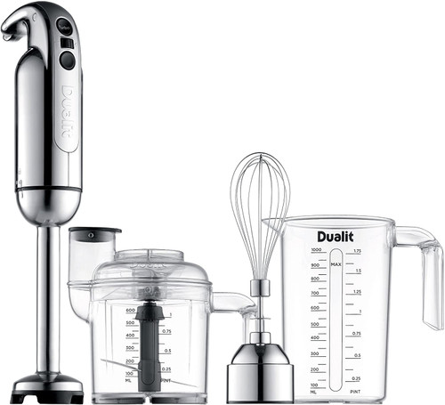 Dualit Polished Chrome Immersion Hand Blender w/Accessories Kit