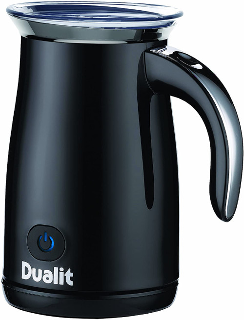 Dualit Piano Black Steel Hot/Cold Milk Frother