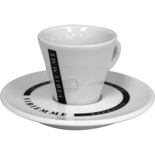 VBM Logo Espresso Cups & Saucers – set of 6