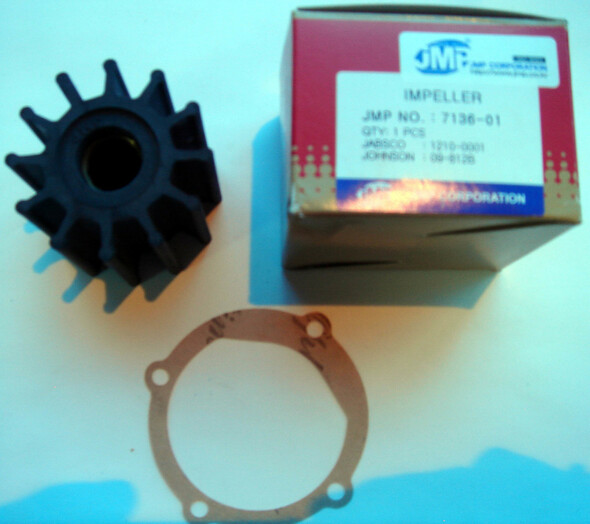 JMP Marine Impeller 7136-01K Jabsco 13554-0001, Johnson 09-812B, Volvo Penta 3588914, 21213664, 3593660, 21951352, Indmar 68-5007
